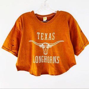 Russell Athletic Vintage Texas Longhorns Crop Top